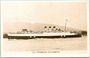 Canadian Pacific Steamship RPPC Photo Postcard S.S. PRINCESS ELIZABETH 1930s