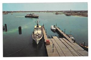 Ocracoke Ferry Outer Banks Harbor NC North Carolina Postcard