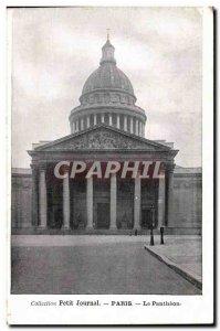 Paris Old Postcard The Pantheon