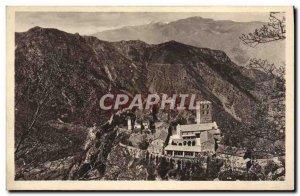 Postcard Old St Martin of Canigou View d & # 39ensemble