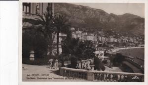 RP: Monte Carlo , La Gare. Vue prise des Terrasses de Monte Carlo , 1020s