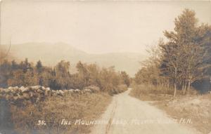 Mountain Village New Hampshire~The Mountain Road~Stone Wall on Left~c1910 RPPC