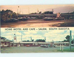 Pre-1980 MOTEL SCENE Salem - Between Mitchell & Sioux Falls SD AD8964