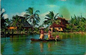 Tahitian Dancers Polynesian Cultural Center Postcard Used (32766)