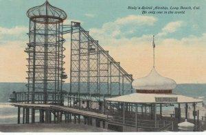 LONG BEACH , California, 1900-10s ; Bisly's Spiral Airship ride