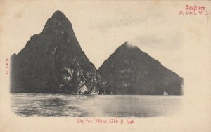 SOUFRIERE , ST. LUCIA , 00-10s ; The two Pitons