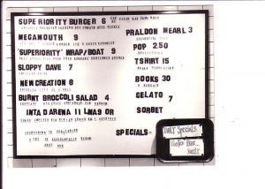 Superiorty Burger, New York, New York,  Menu, Vegetarian