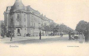 BRUXELLES L'Avenue Louise Street Scene Brussels, Belgium c1910s Vintage Postcard