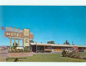 Columbine Motel Grand Junction Colorado Teeter Toder Swingset   Postcard # 8297