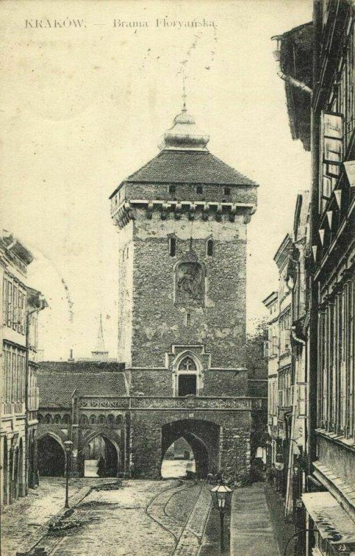 poland, KRAKOW CRACOW, Brama Floriańska (1923) Postcard
