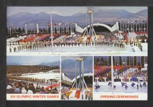 Lake Placid XIII Winter Olympic,Opening Ceremonies Postcard