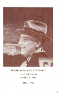 Picture of FDR - FRANKLIN Delano ROOSEVELT 31st  President   c1950s   Postcard