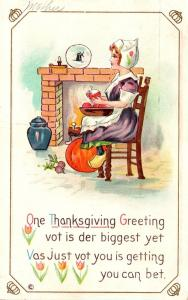Thanksgiving With Young Girl 1912