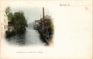 CPA ÉPINAL Le Canal vue du Pont de la Xatte (405570)