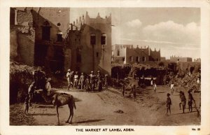 Yemen Aden The Market at Lahej real photo postcard