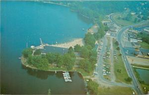 Lake Cable Ohio~Aerial View Of Lake Cable~1950s PC
