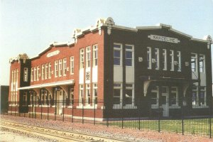 Marceline MO Disney Hometown Museum Restored Santa Fe Depot Continental Postcard