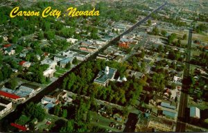 Nevada Carson City Aerial View