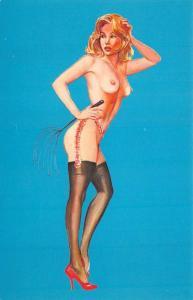 New York NY Guys & Dolls Au Go Go Strippers Postcard