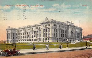 St. Louis Missouri 1915 Postcard Municipal Courts Building