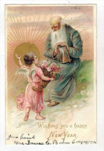 Blue Robe Father Time  with ANGEL