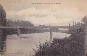 Bridge, Le Pont Sur La Sarthe, Ferce (Sarthe), France, 1900-1910s