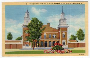 Rochester, N.Y., Public Bath House And Pavilion, Ontario Beach Park