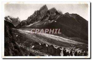 Old Postcard Chamonix Needles Mer de Glace du Geant and Chamonix Le Mauvais Pas
