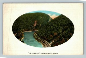 Delaware Water Gap PA-Pennsylvania, The Water Gap, Vintage Postcard