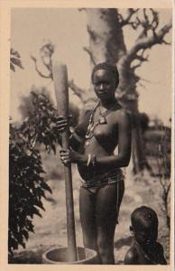 Africa Nude Topless Senegal Pileuse du Mil