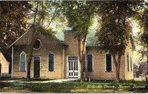 Methodist Church Harper Kansas Vintage Standard View Postcard