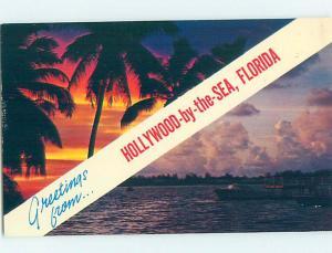 Pre-1980 TWO VIEWS ON ONE POSTCARD Hollywood - Near Miami Florida FL AD3240