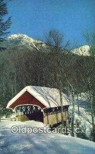 Flume, Franconia Notch, NH USA Covered Bridge Postcard Post Card Old Vintage ...