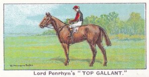 Top Gallant Winners On The Turf 1923 Victoria Cup Horse Racing Cigarette Card