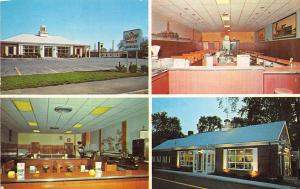 Portland ME Deering Ice Cream Multi-View Restaurants & Interiors Postcard