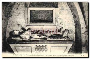 Old Postcard Eu Tomb of Charles & # 39Artois in the crypt of Our Lady & # 39e...