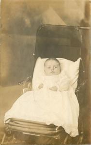 Real Photo Postcard~Emos 3 Months Old~Lake City~Baby Carriage~1908 RPPC