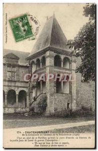 Chateaubriant Old Postcard Pavilion & # 39escalier the Renaissance chateau co...