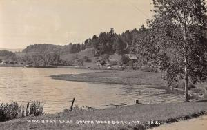 Woodbury Vermont Lake Scenic View Real Photo Antique Postcard K15926