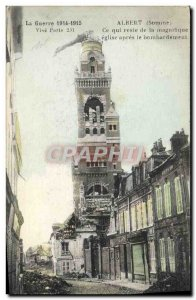 Old Postcard Albert What remains of & # 39eglise after the bombing Army