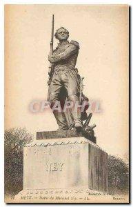Old Postcard Metz statue of Marshal Ney