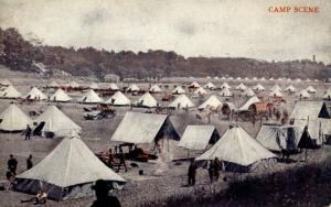 U.S. Military, WWI. U.S. Army, Camp Scene