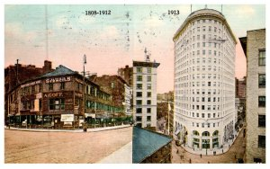 Rhode Island Providence , Turks Head Building ,  2 views same card 1808-1912,...