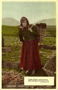 ireland, Connemara Colleen, Peat Carrier (1951)