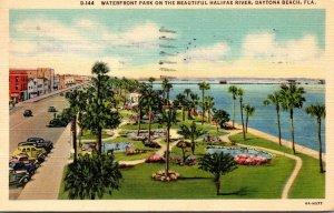 Florida Daytona Beach Waterfront Park On Halifax River 1939 Curteich