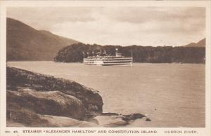 Hudson River Day Line Steamer Alexander Hamilton and Consitution Island Alber...