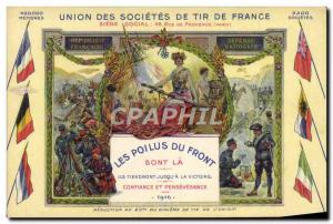 Old Postcard Union of France Shooting The companies hairy forehead Alpine Hun...