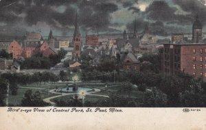 ST. PAUL, Minnesota, PU-1912; Bird's-Eye View Of Central Park At Night