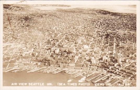 Real Photo Air View Seattle Washington