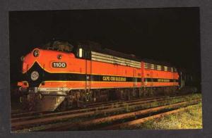 MA Cape Cod Railroad Train Loco 1100 & 1114 Hyannis Massachusetts Mass Postcard